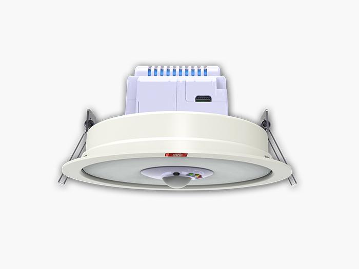 人体感应LED消防应急照明筒灯